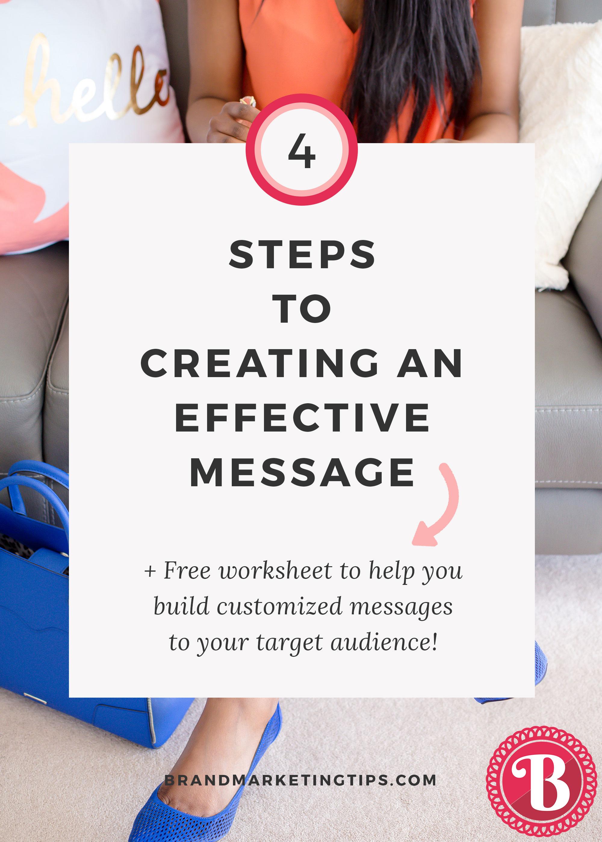creating an effective message