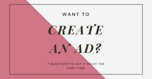 Facebook - create an ad