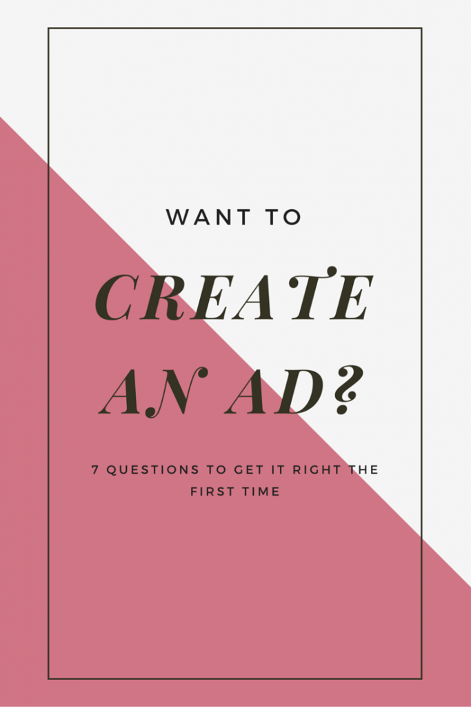 Pinterest - create an ad