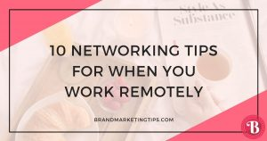 Networking Tips While Working Remotely